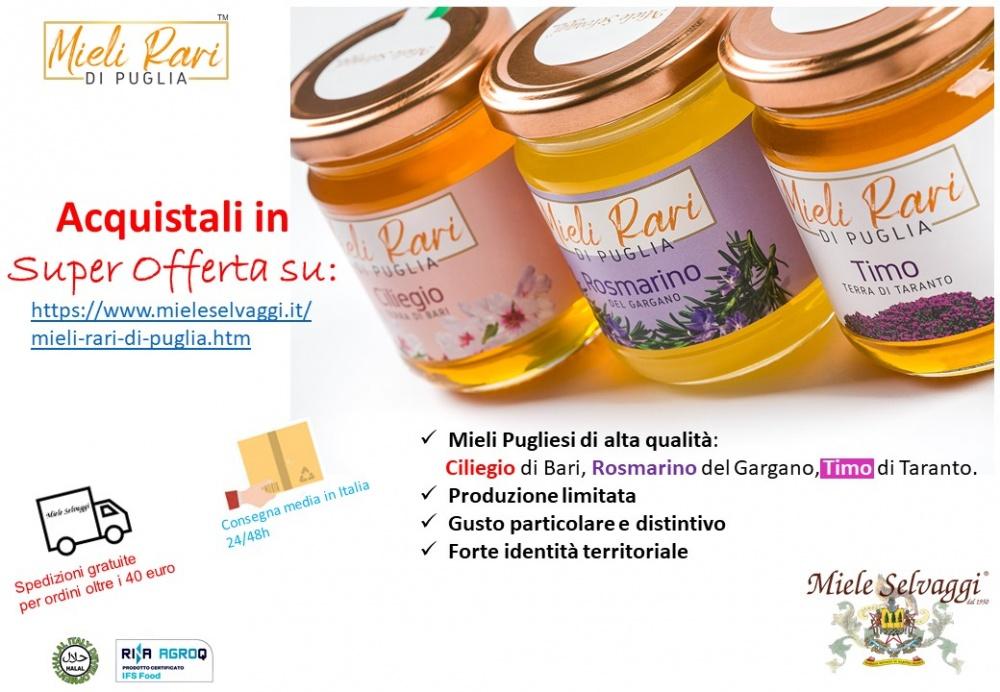 Super Offerta sui Mieli rari di Puglia